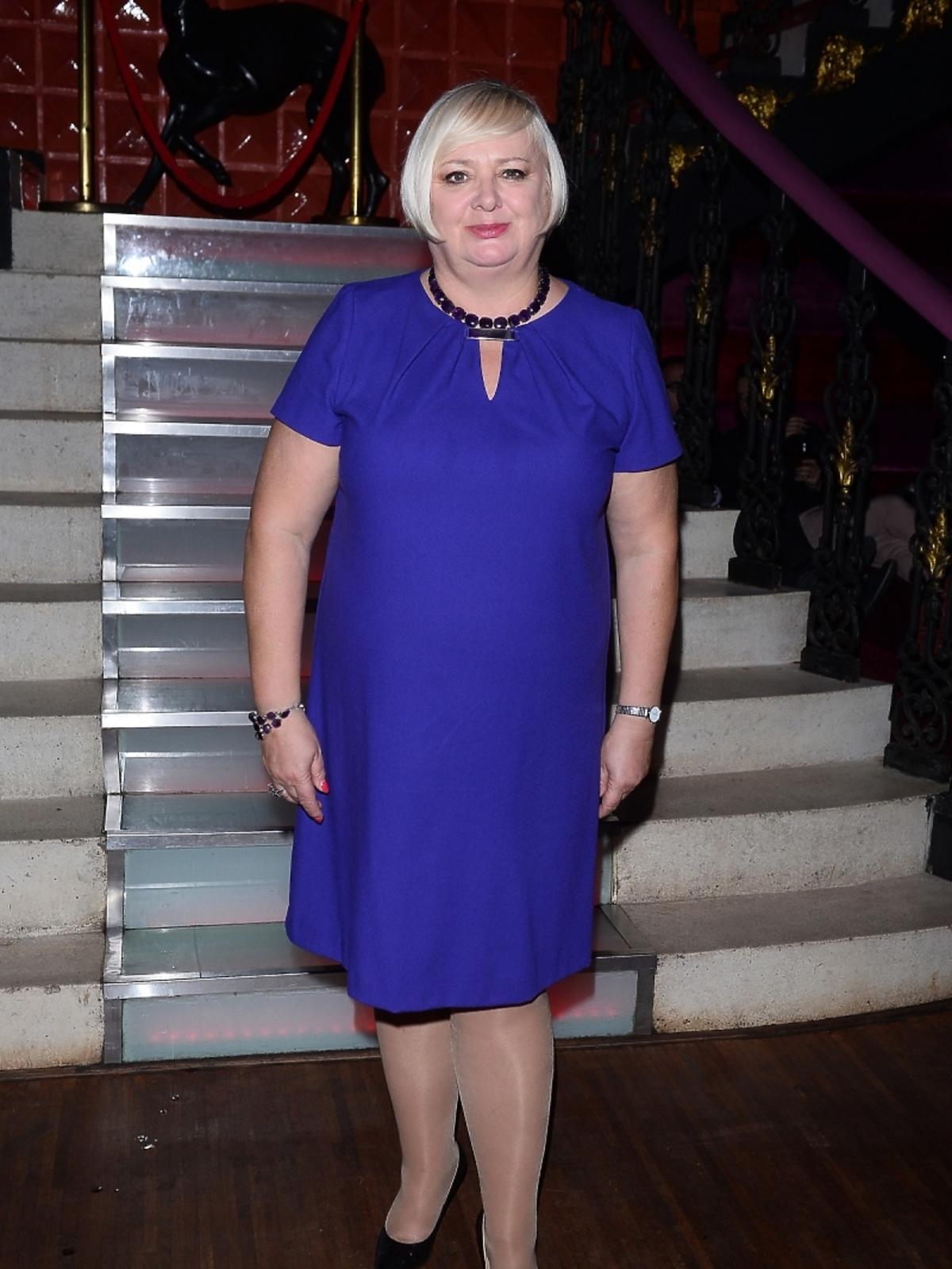 Anna Gronostaj na premierze sztuki