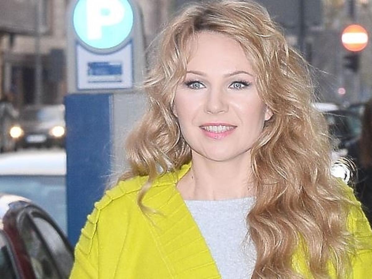 Anna Guzik na otwarciu butiku Violi Piekut