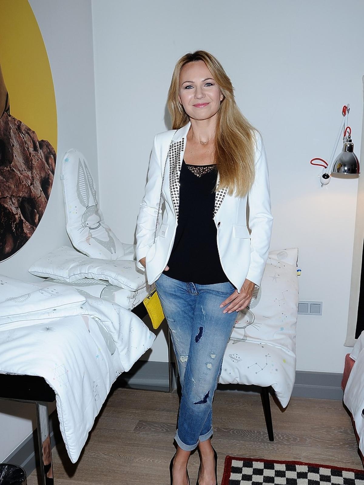 Anna Guzik na prezentacji kolekcji dla dzieci