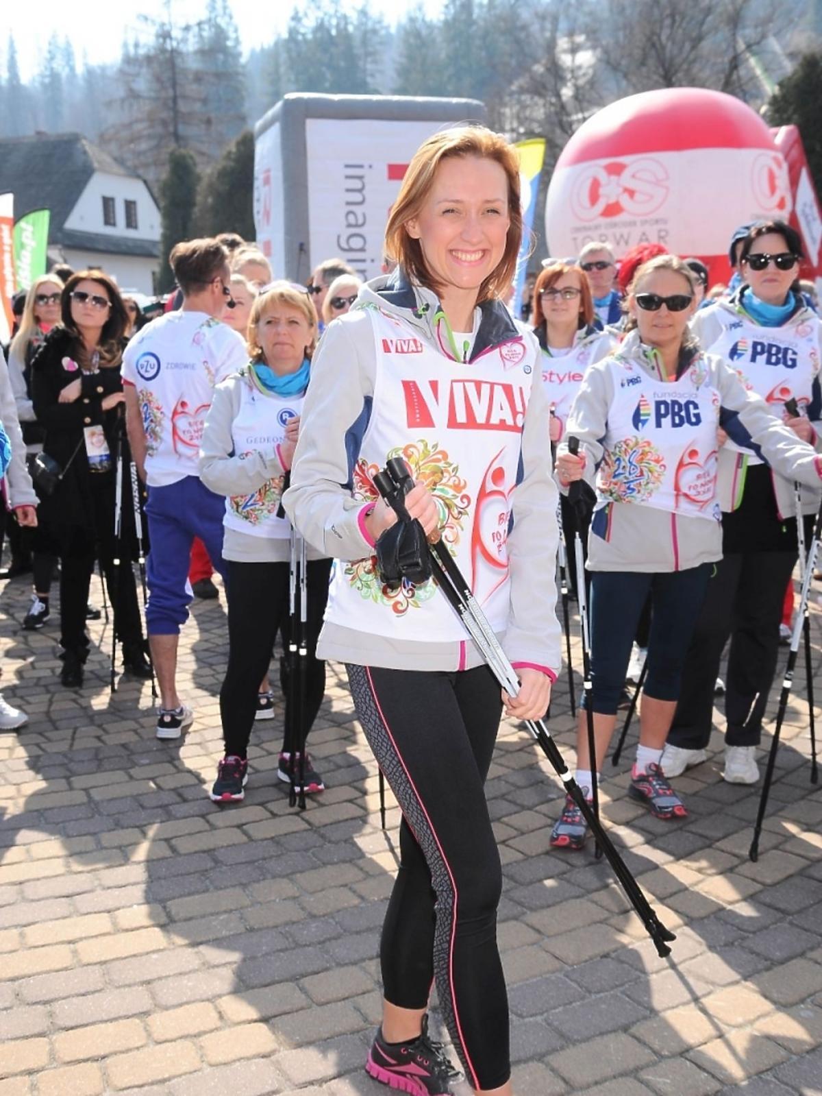 Anna Gzyra na charytatywnym biegu
