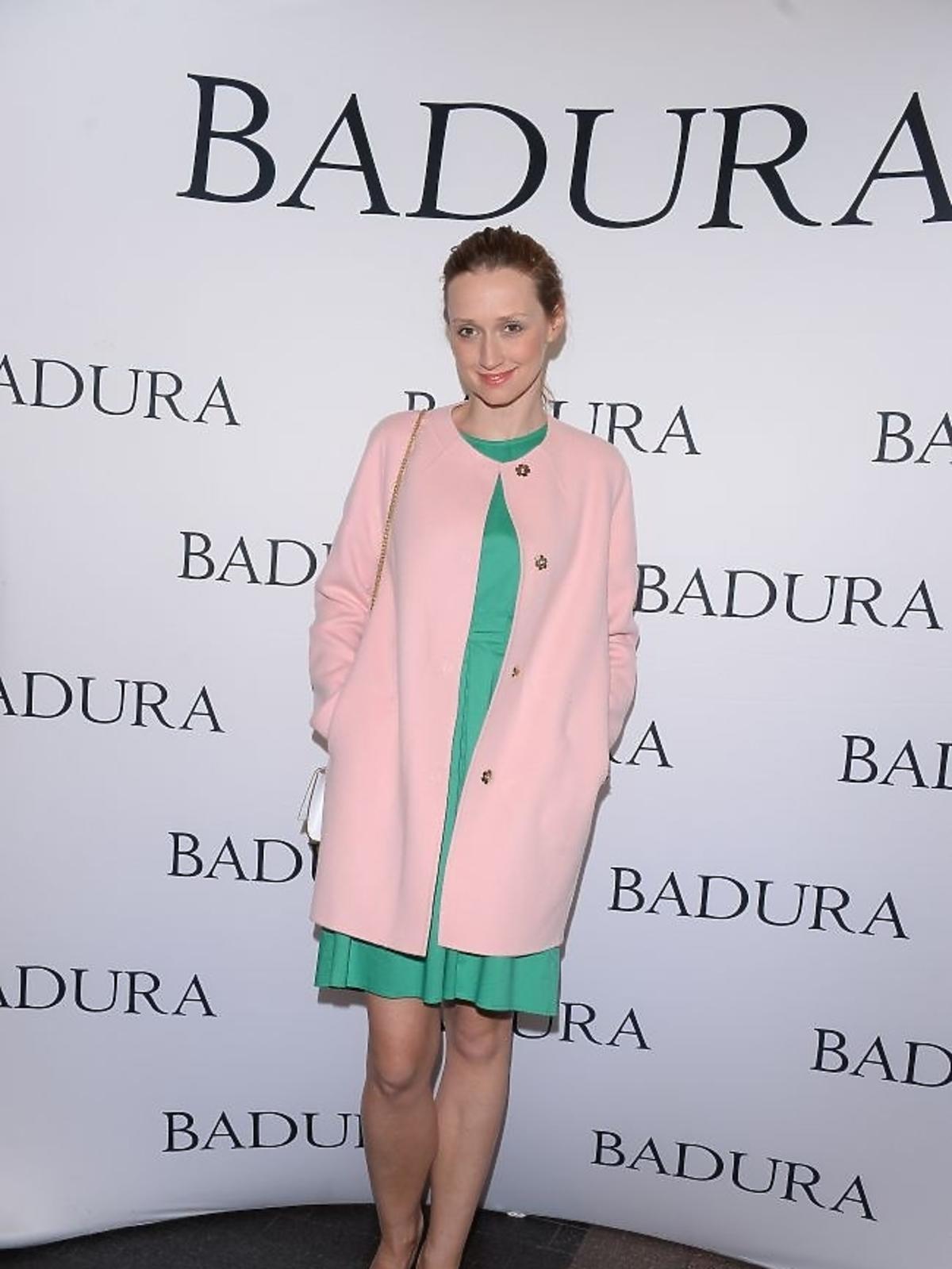 Anna Gzyra na prezentacji marki Badura