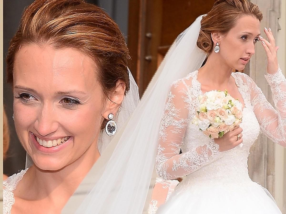 Anna Gzyra w sukience ślubnej