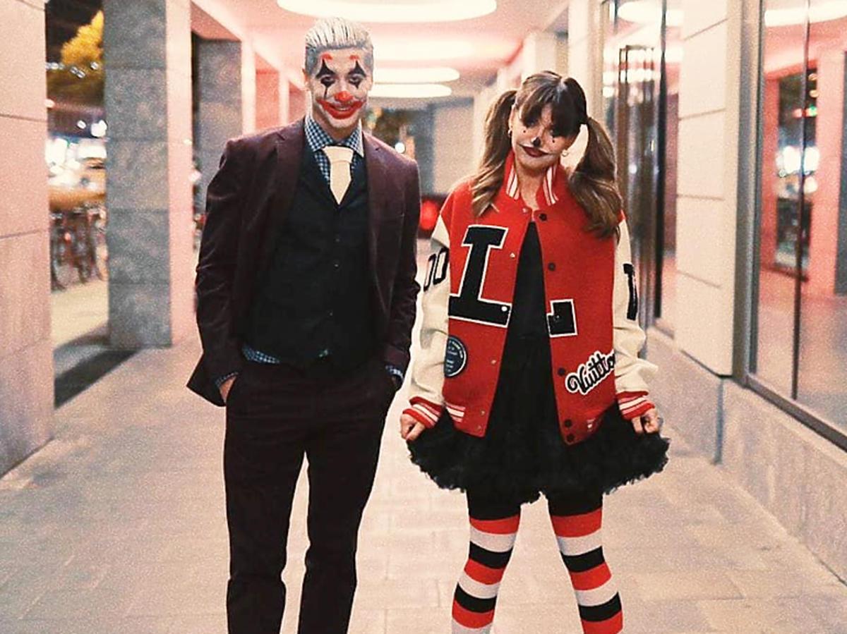 Anna i Robert Lewandowscy na Halloween