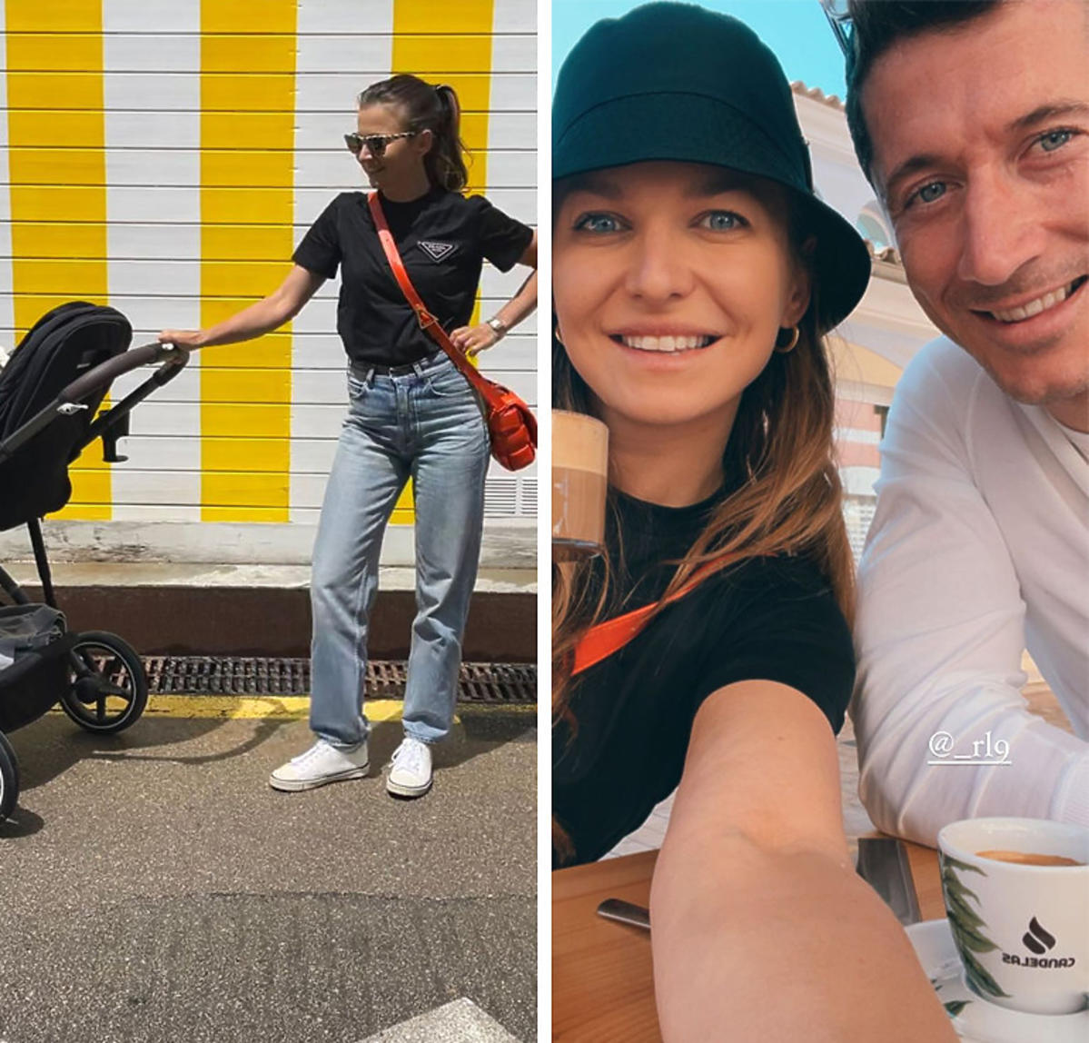 Anna i Robert Lewandowscy na Majorce na spacerze