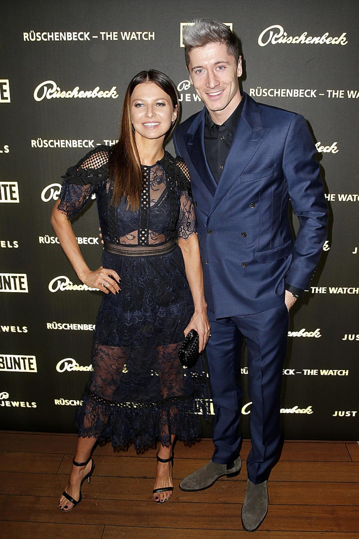 Anna i Robert Lewandowscy na otwarciu butiku w Monachium