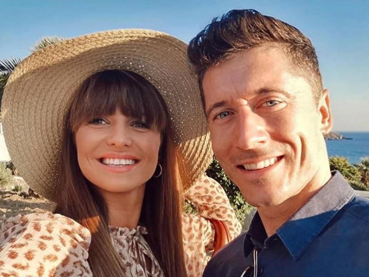 Anna i Robert Lewandowscy na wakacjach