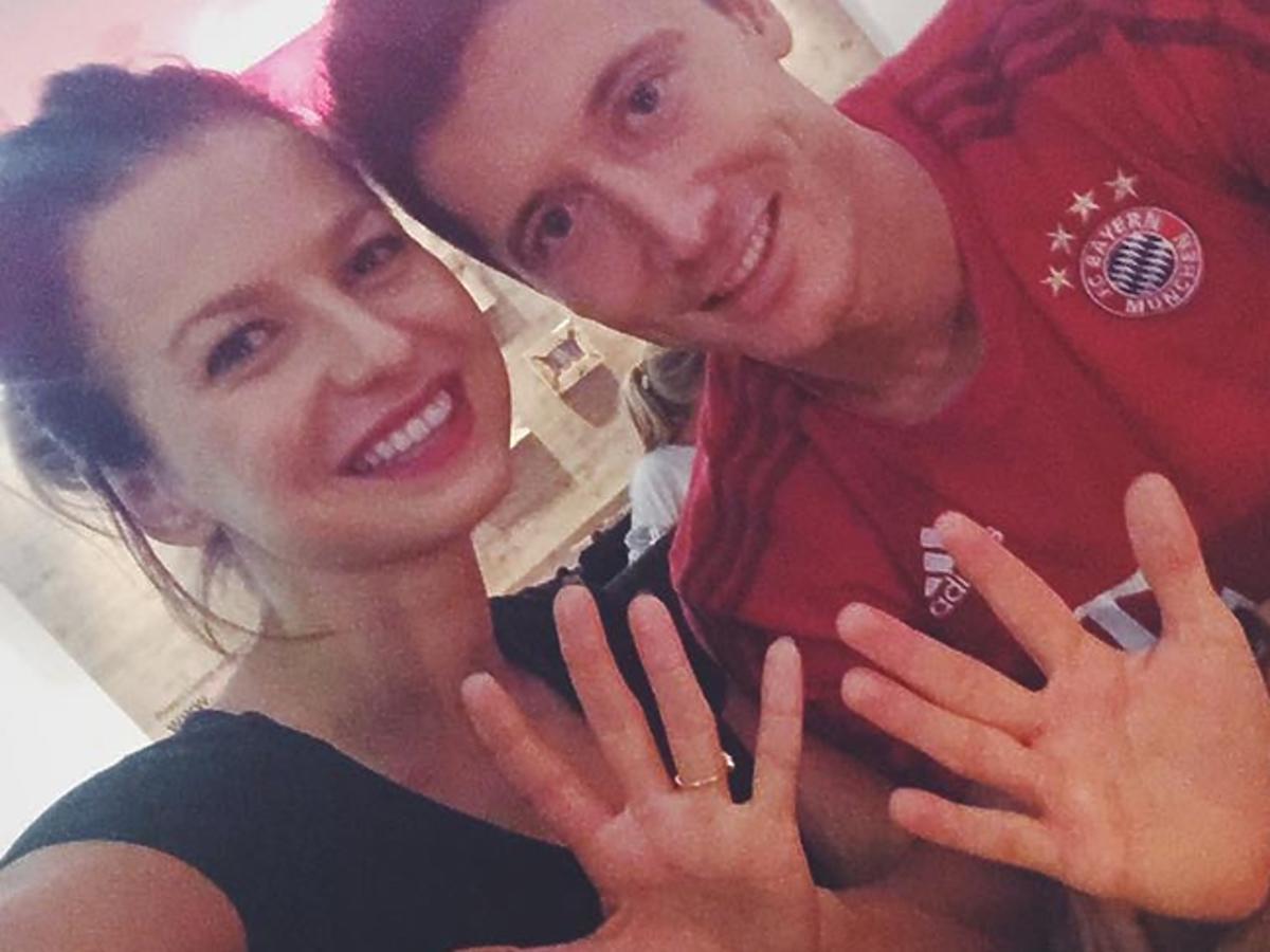 Anna i Robert Lewandowska o hamburgerach