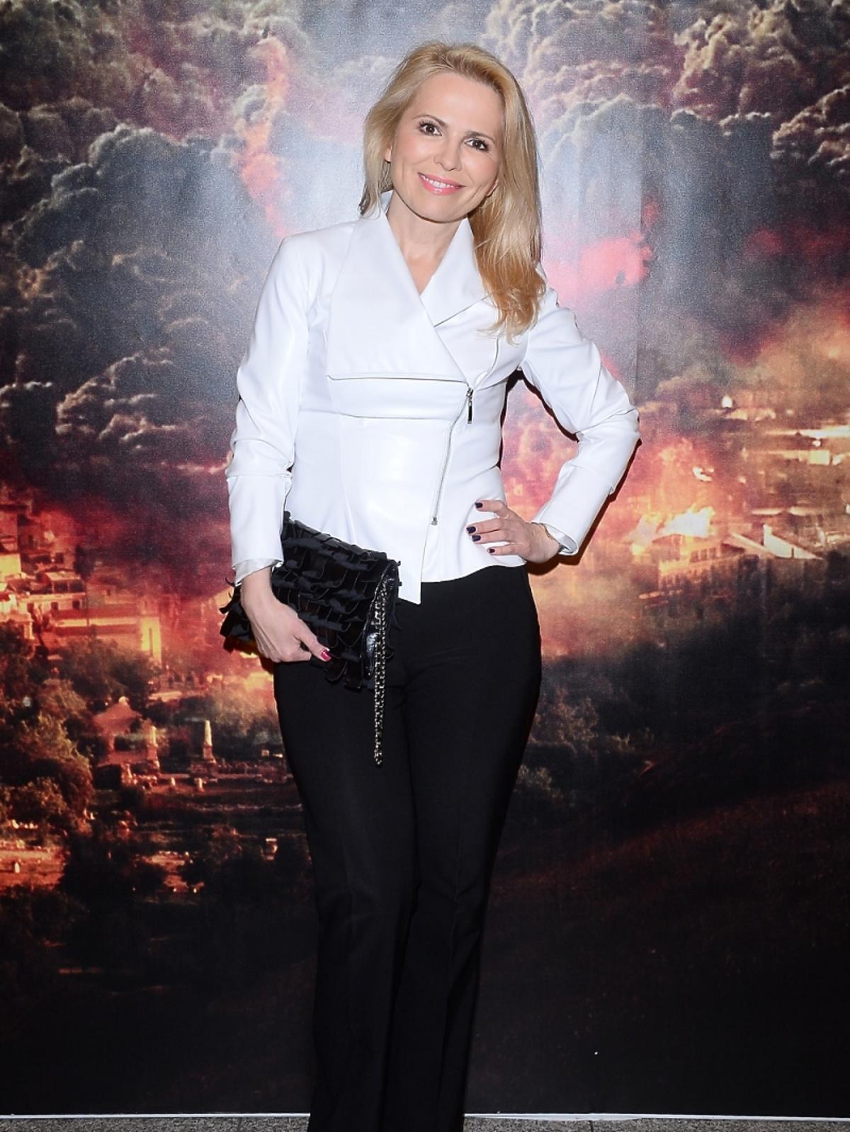 Anna Jurksztowicz na wernisażu wystawy Pompeje Życie w cieniu wulkanu