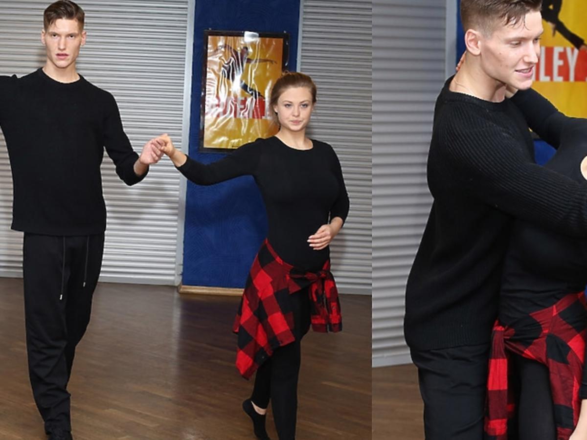 Anna Kaczmarczyk i Jacek Jeschke na trenigu do Tańca z Gwiazdami
