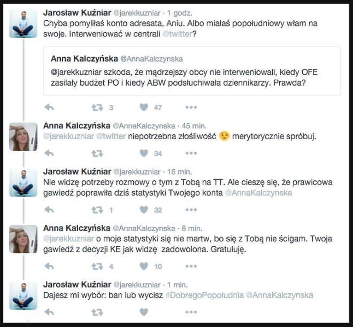Anna Kalczyńska, Jarosław Kuźniar