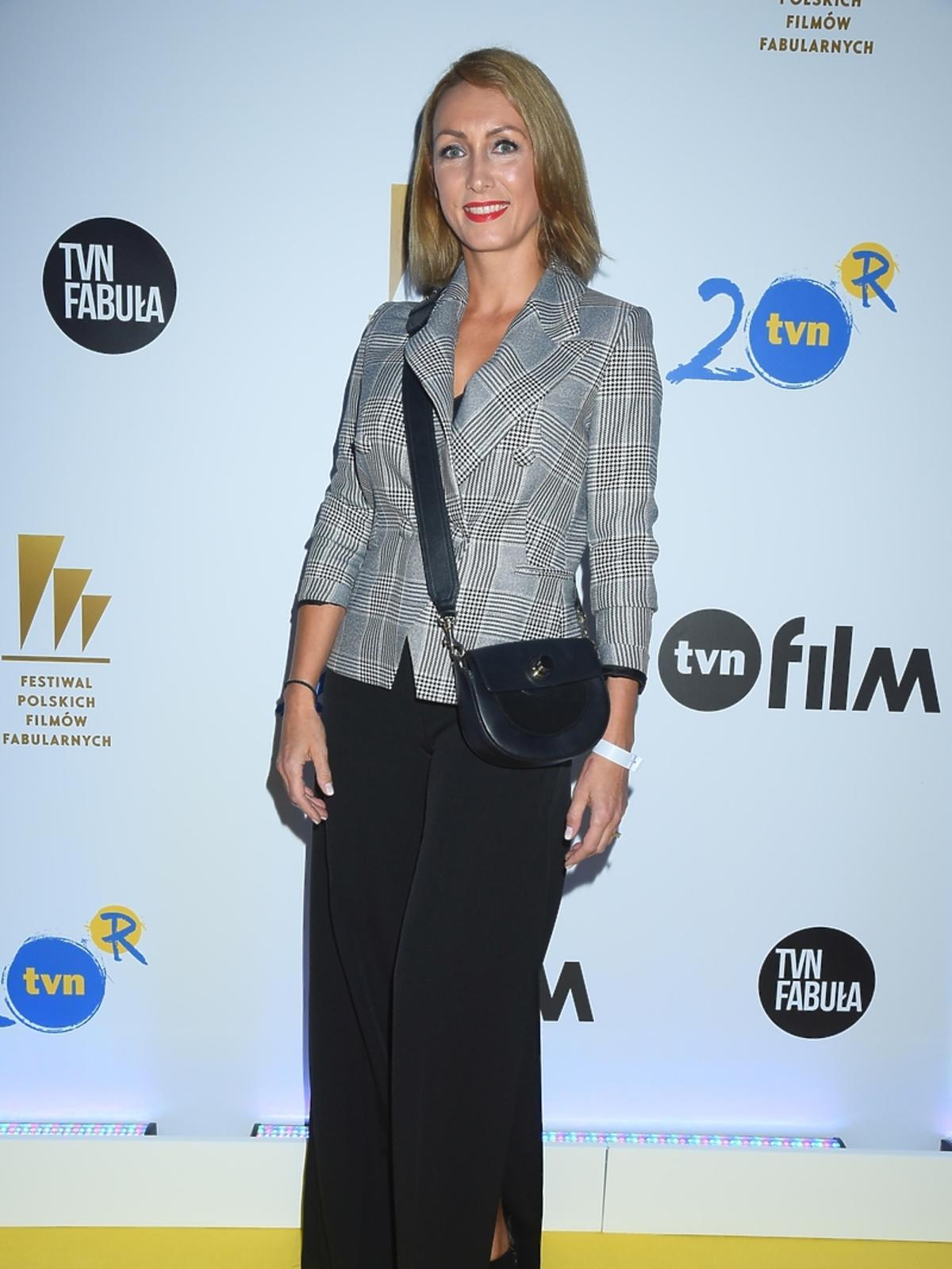 Anna Kalczyńska na imprezie TVN na Festiwalu Filmowym w Gdyni
