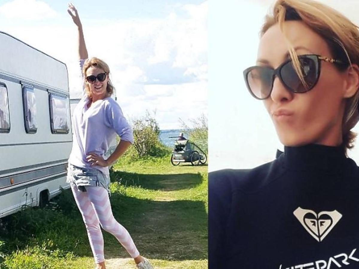 Anna Kalczyńska w okularach przeciwsłonecznych
