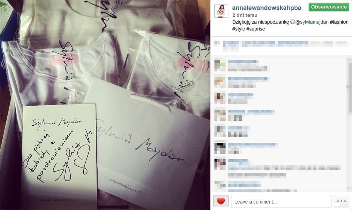 Anna Lewandowska dostała prezent od Sylwii Majdan