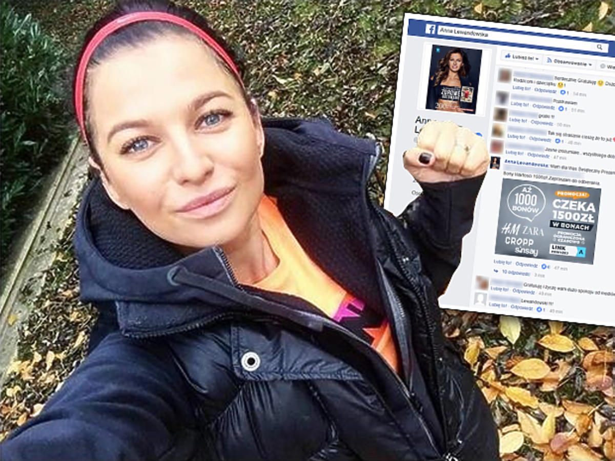 Anna Lewandowska i oszuści w sieci