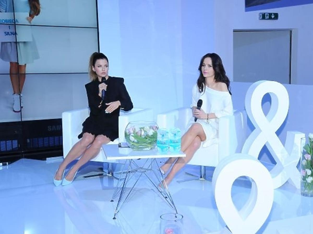 Anna Lewandowska i Paulina Sykut na konferencji Gilette