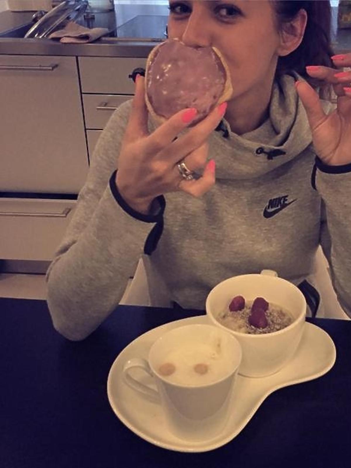 Anna Lewandowska je pączka