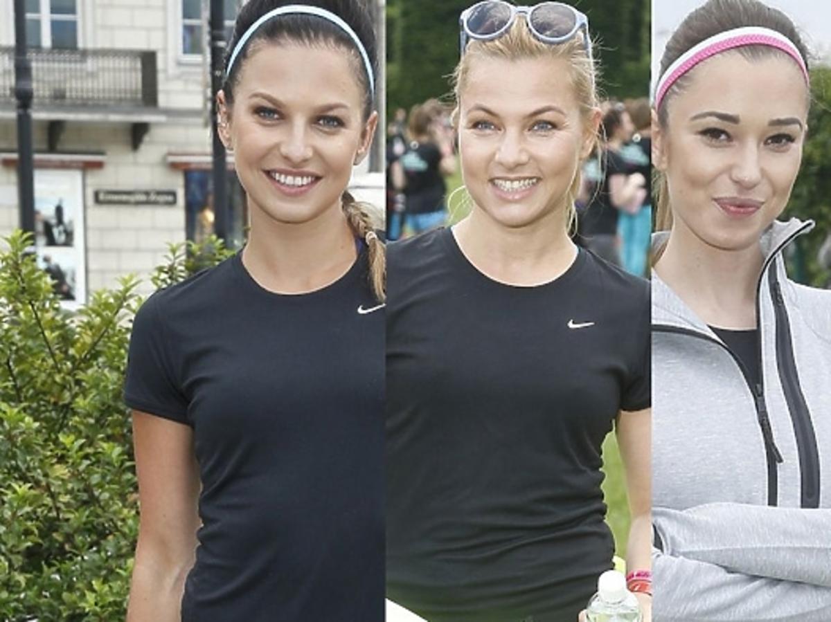 Anna Lewandowska, Katarzyna Bujakiweicz i Agnieszka Wesołowska na Nike Free Run