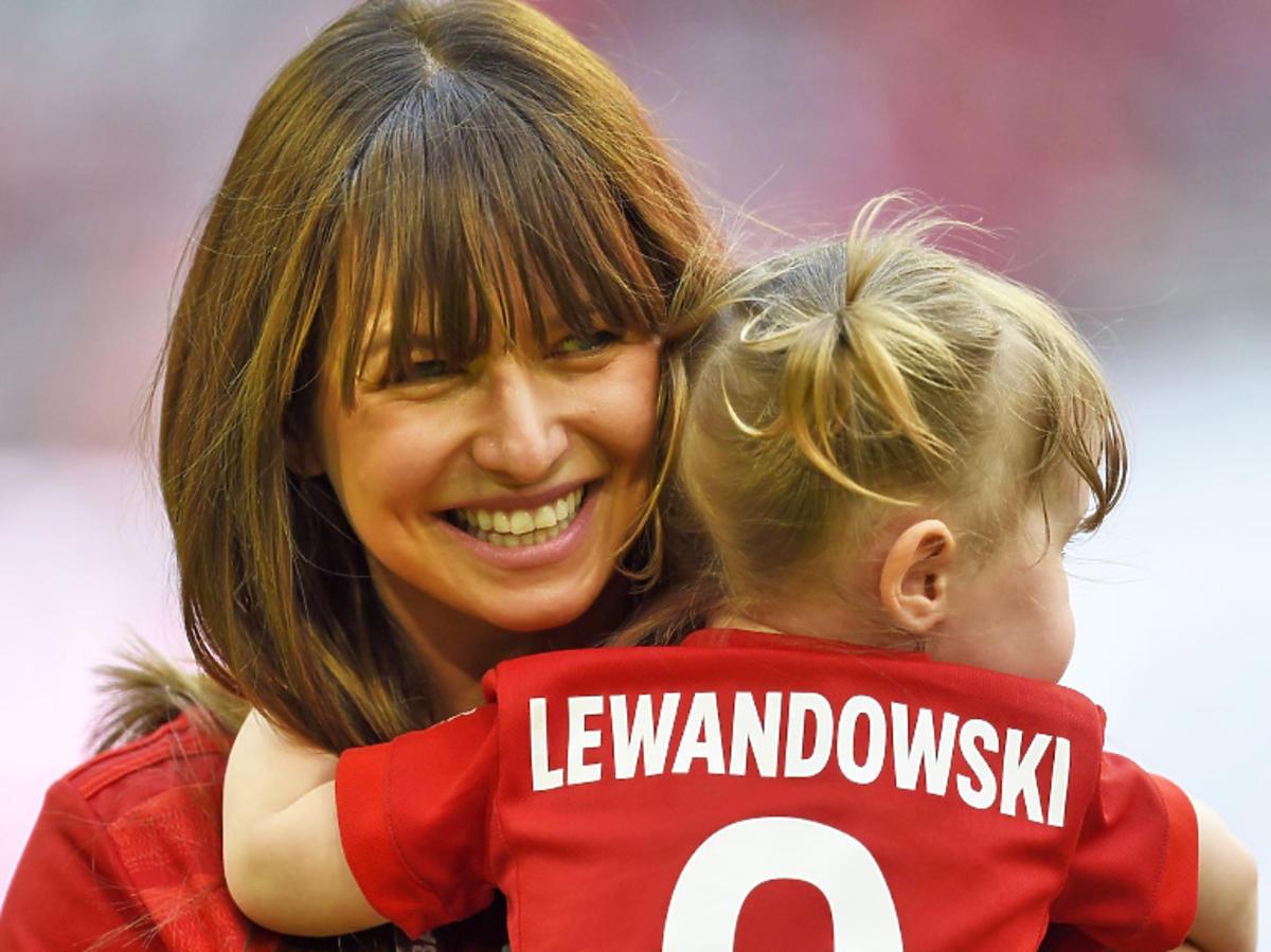 Anna Lewandowska, Klara Lewandowska w Monachium na meczu