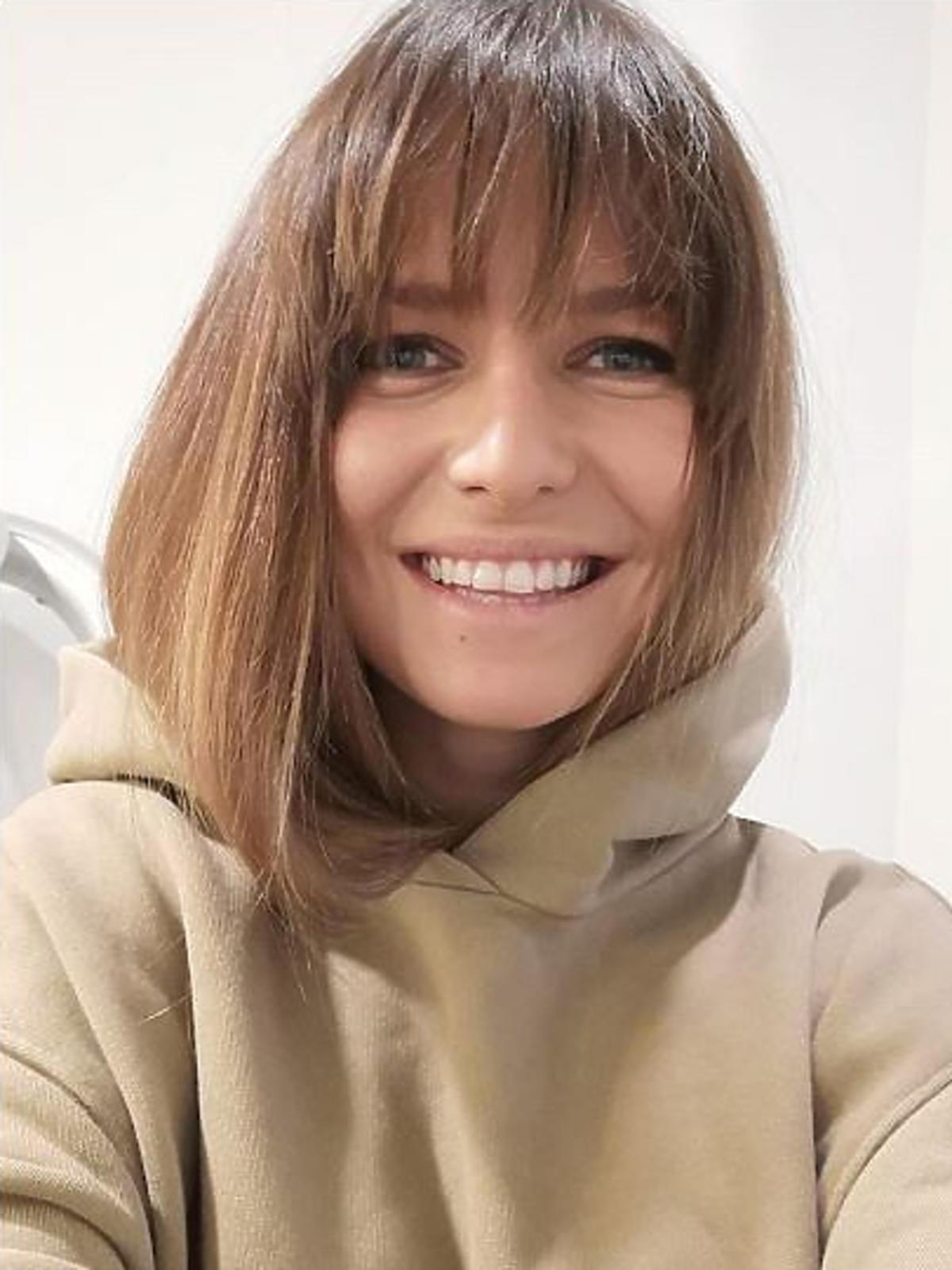 Anna Lewandowska ma grzywkę