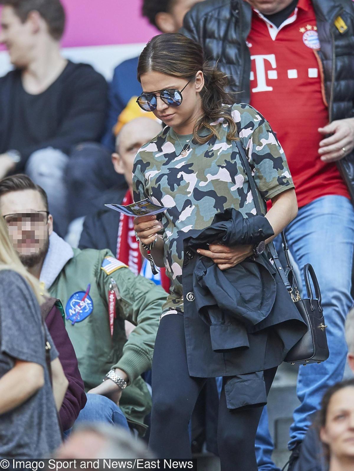 Anna Lewandowska na meczu Bayernu