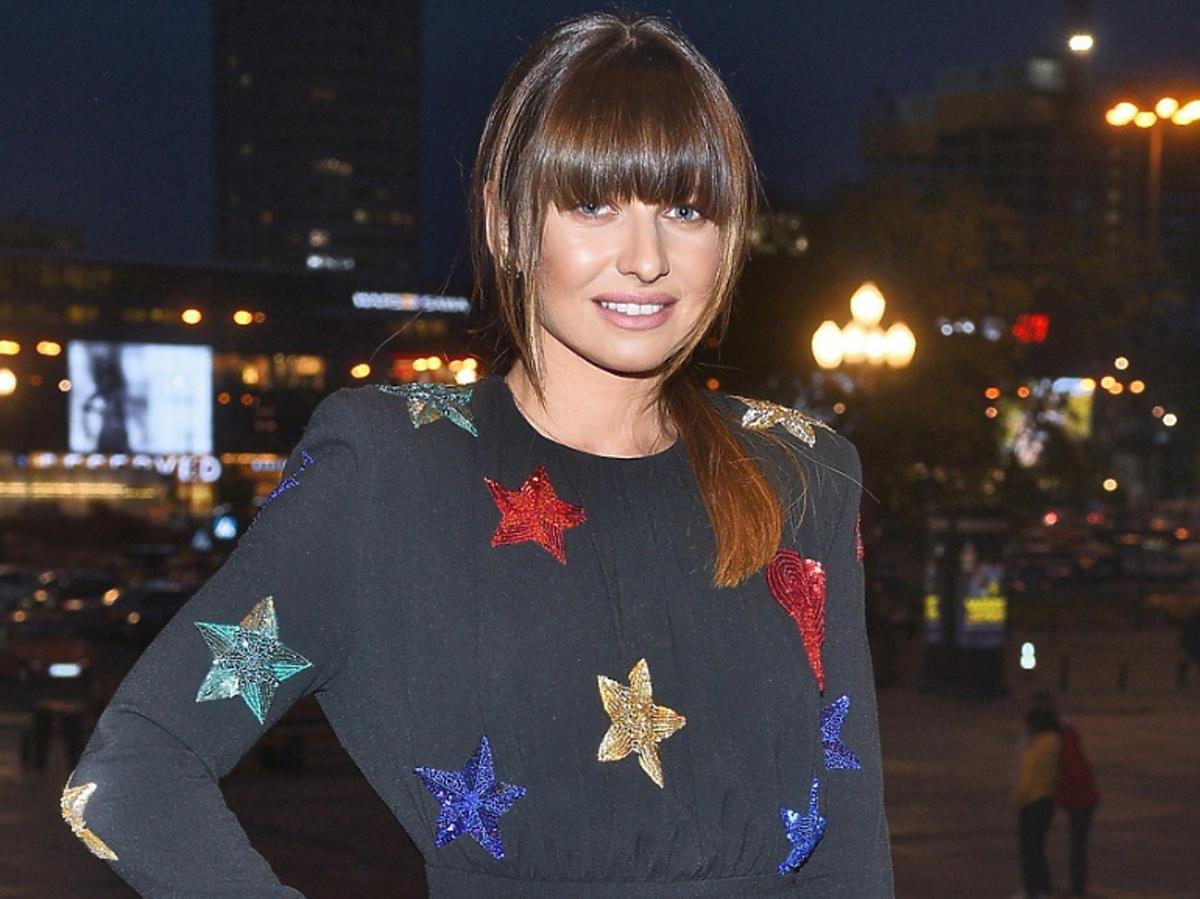 Anna Lewandowska na pokazie mody