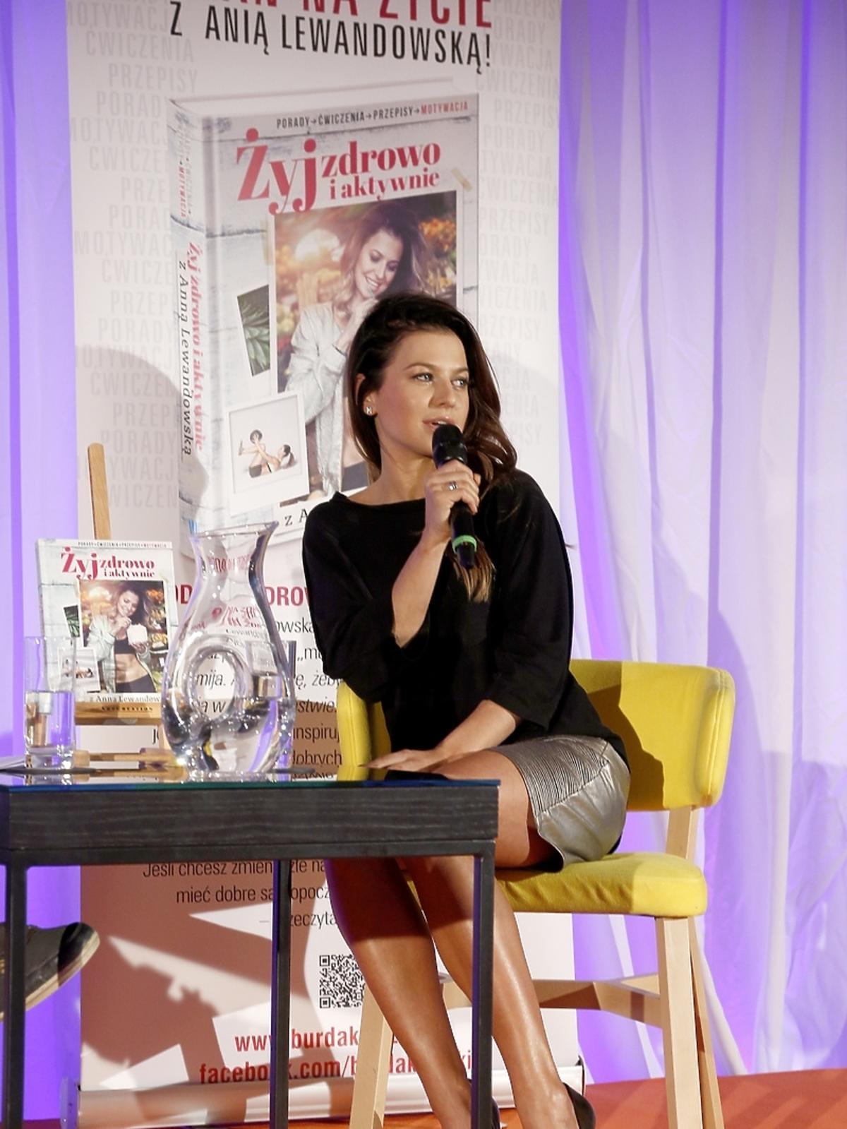 Anna Lewandowska na premierze swojej książki