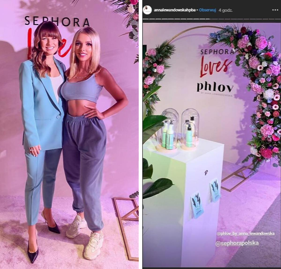 Anna Lewandowska na prezentacji kosmetyków Phlov