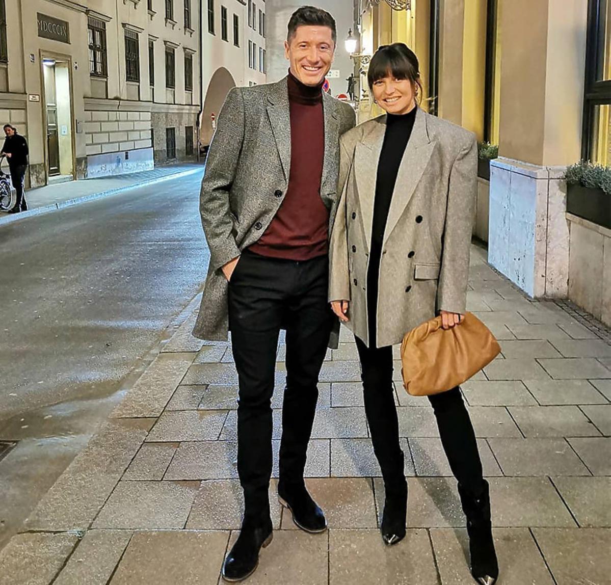 Anna Lewandowska na randce z mężem