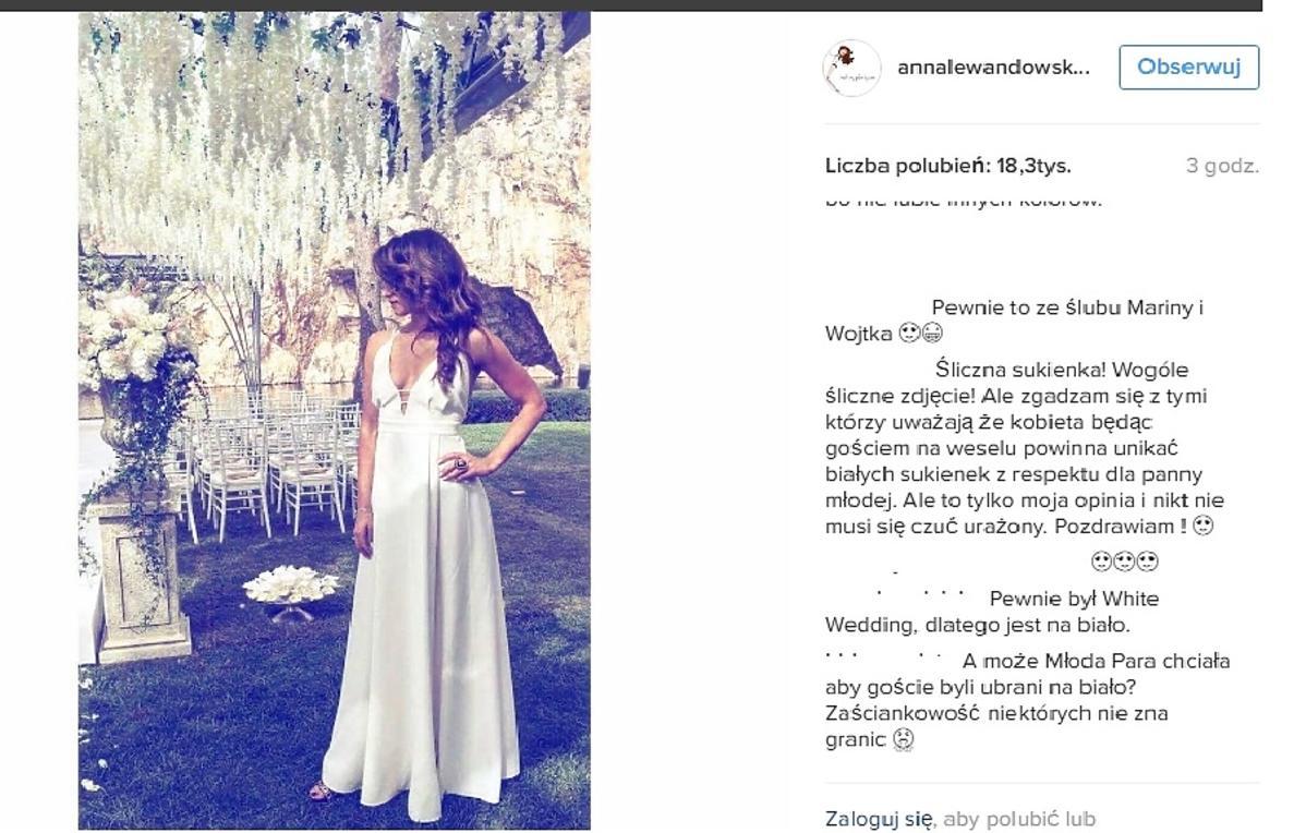 Anna Lewandowska na ślubie Szczęsnego i Mariny