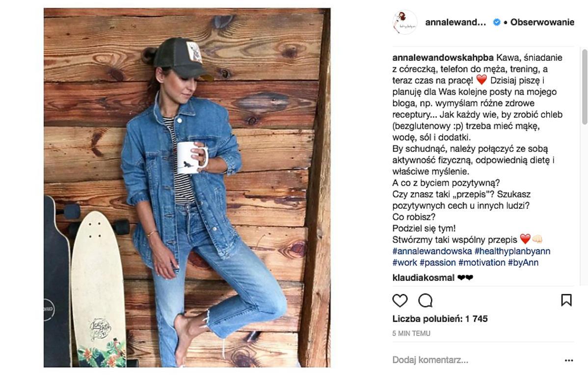 Anna Lewandowska nowe zdjęcie po przegranej