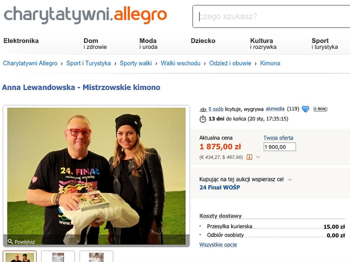Anna Lewandowska oddała na WOŚP swoje kimono