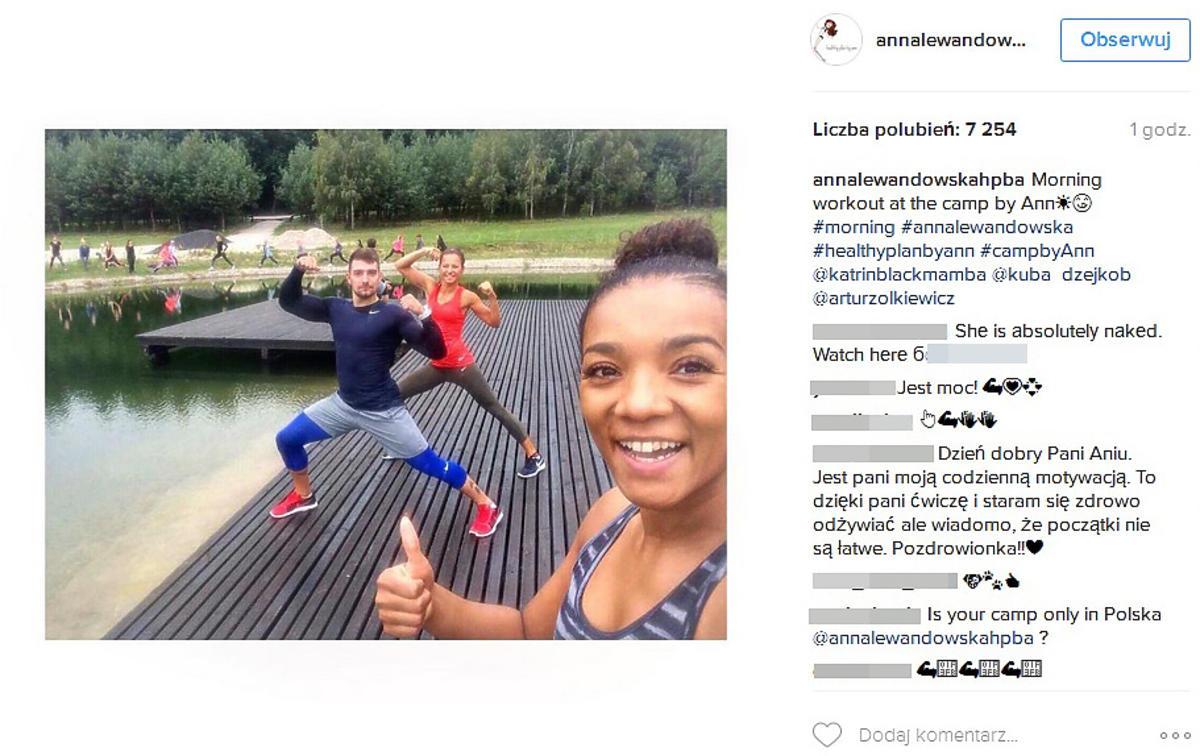 Anna Lewandowska pochwaliła się fotkami z obozu
