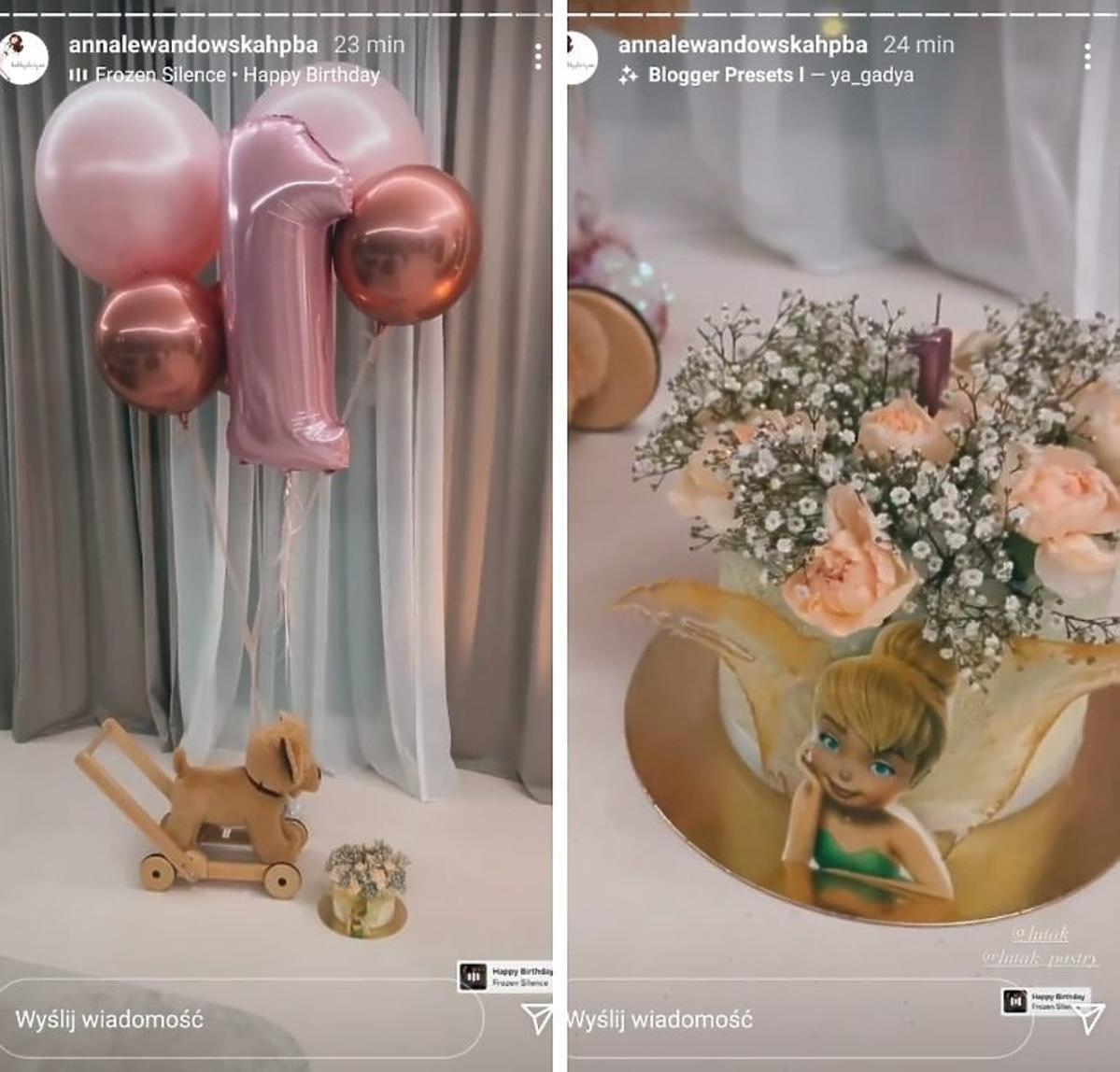 Anna Lewandowska pokazała tort urodzinowy Laury