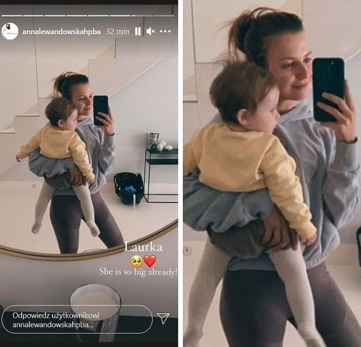 Anna Lewandowska pokazała twarz Laury