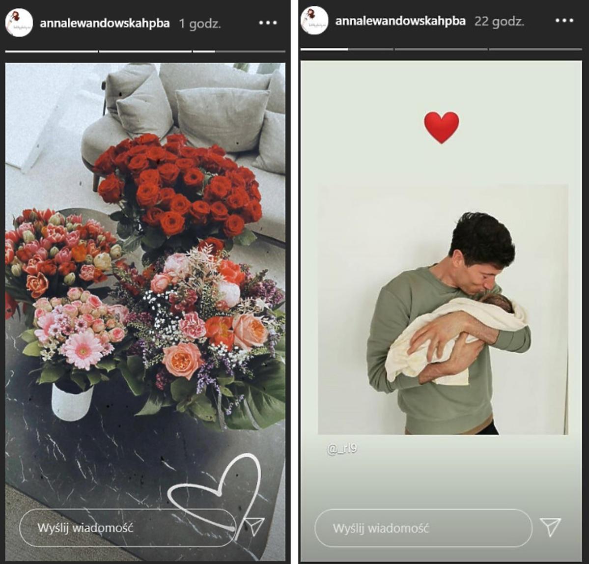 Anna Lewandowska pokazała zdjęci kwiatów i Roberta Lewandowskiego z córką
