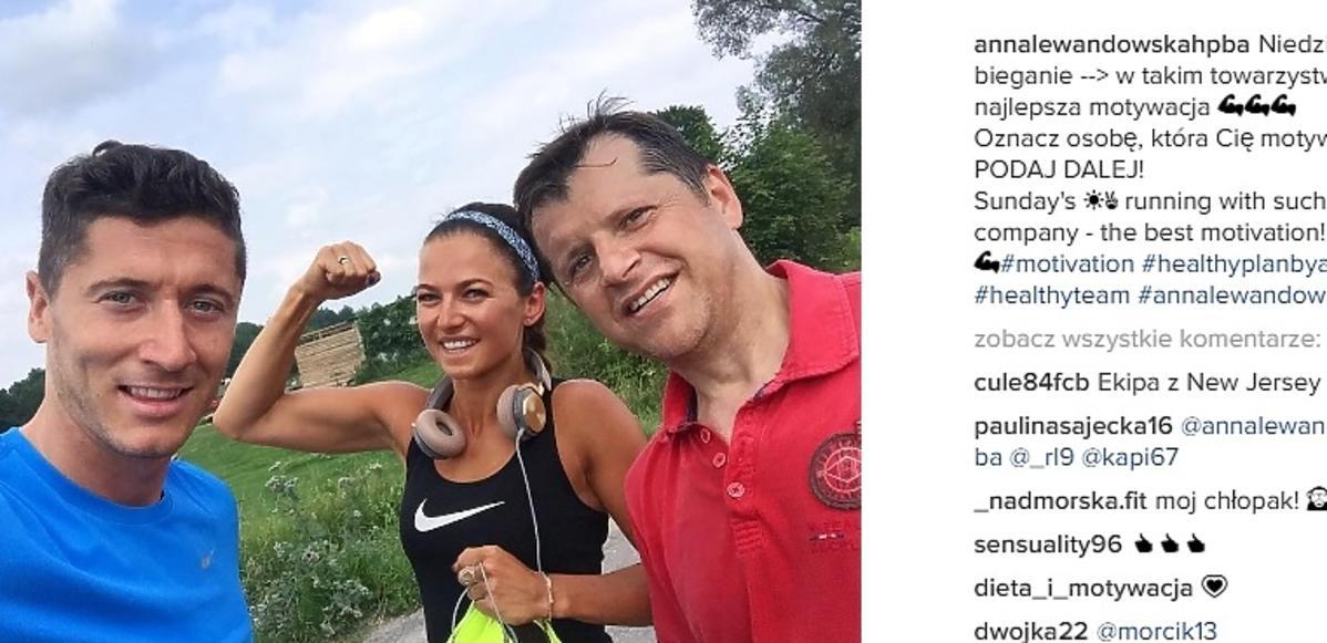 Anna Lewandowska pokazała zdjęcie z Robertem i z Cezarym Kucharskim!