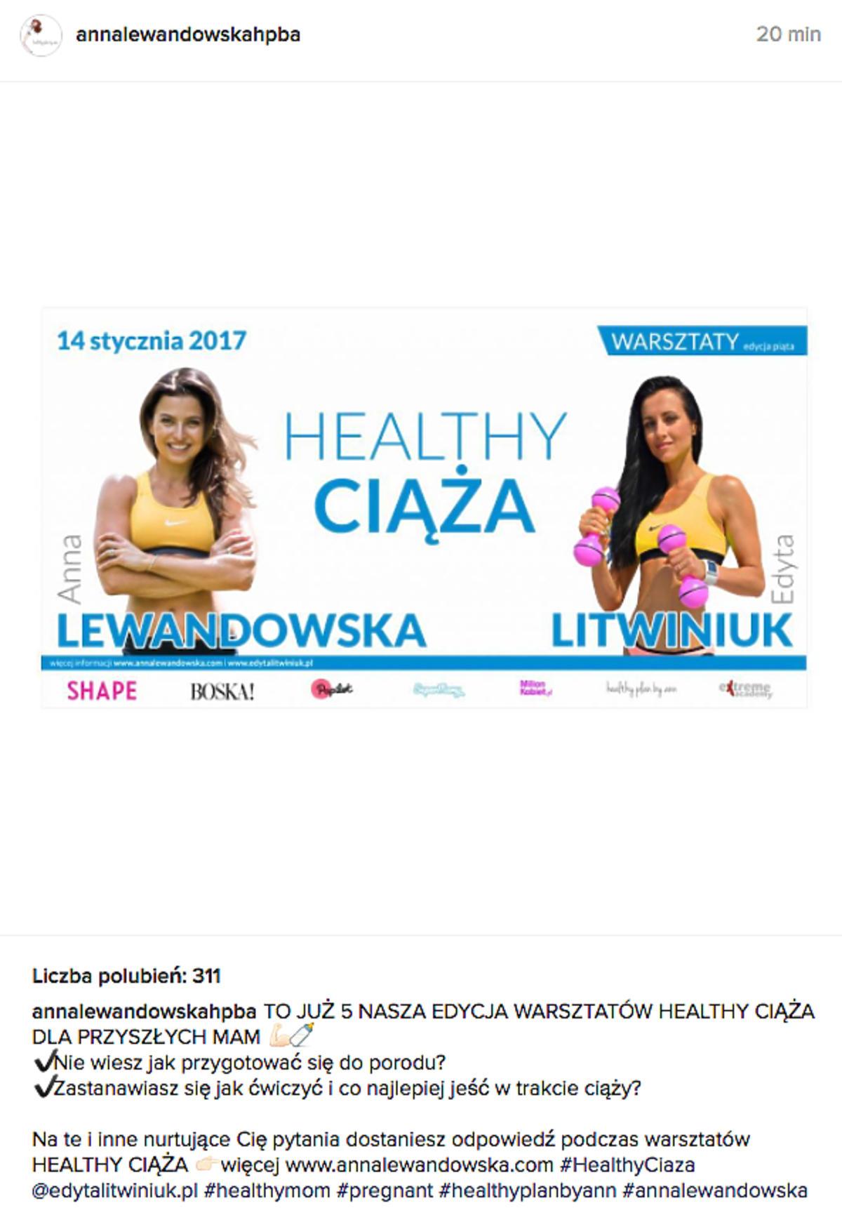 Anna Lewandowska poprowadzi warsztaty dla kobiet w ciąży