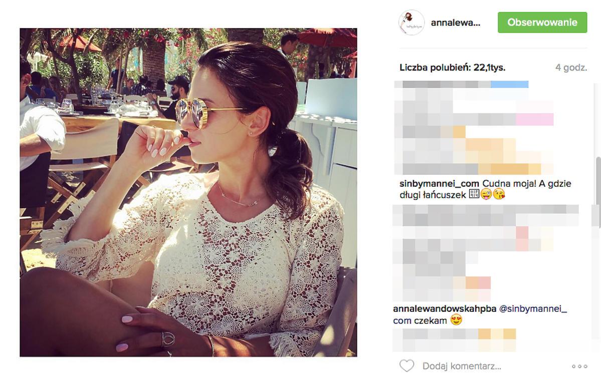 Anna Lewandowska promuje biżuterię Sary Boruc