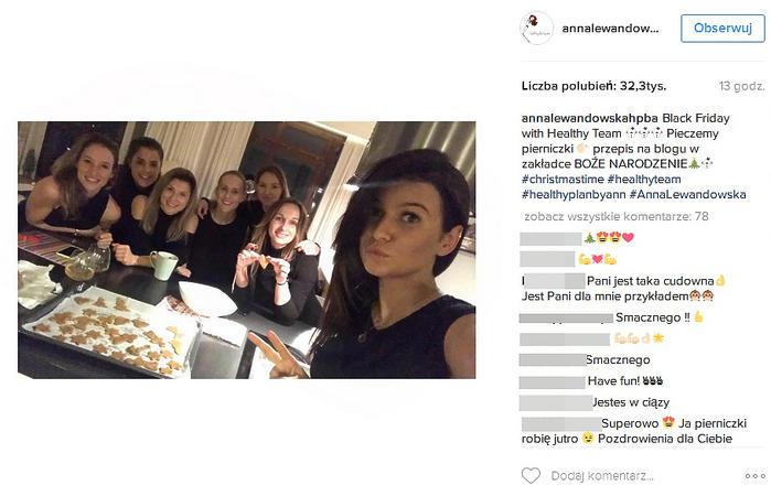 Anna Lewandowska przygotowuje się do świąt
