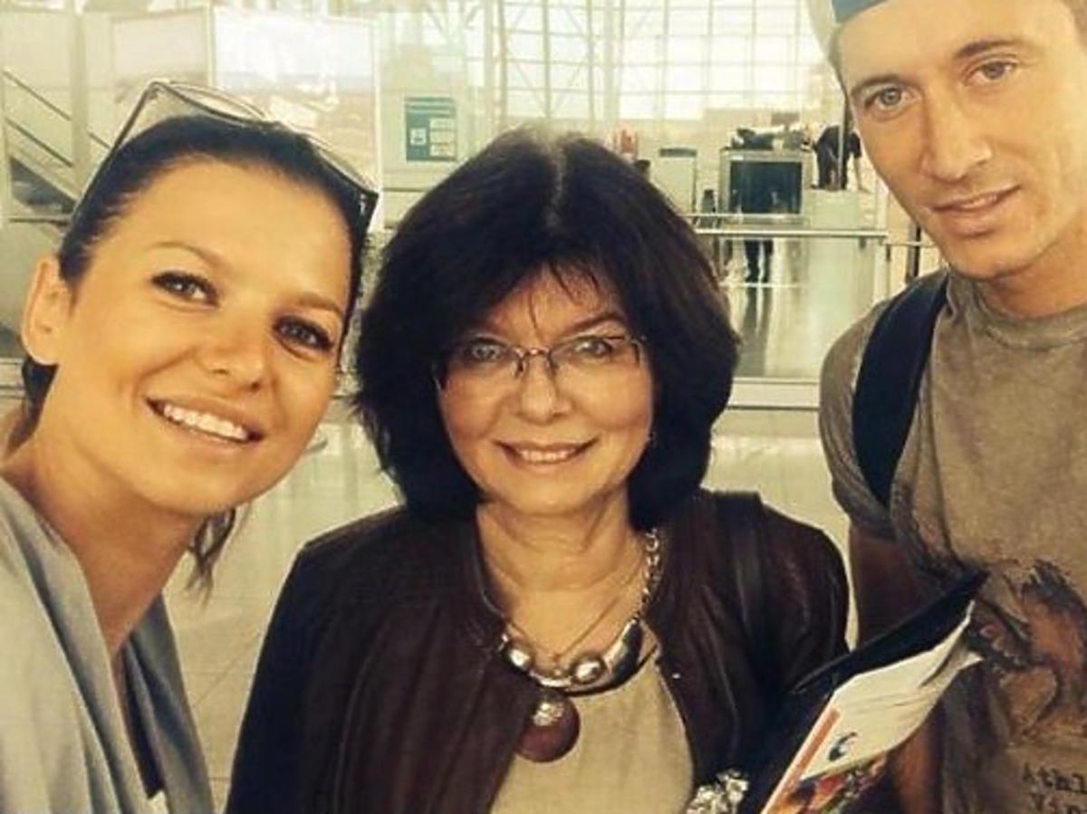 Anna Lewandowska, Robert Lewandowski, Maria Stachurska - mama Ani Lewandowskiej