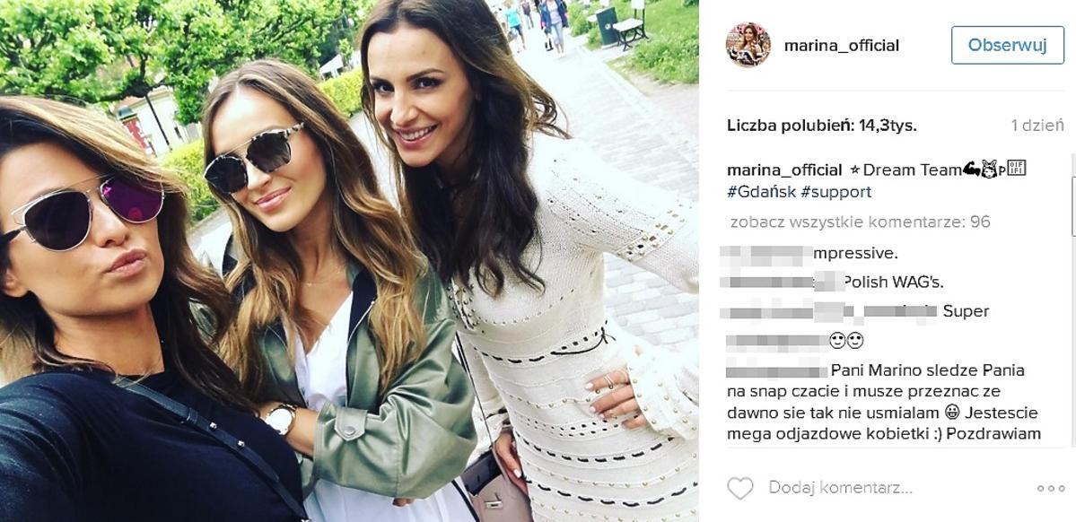 Anna Lewandowska, Sara Boruc, Marina Łuczenko-Szczęsna