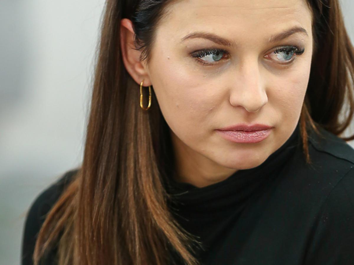 Anna Lewandowska smutna