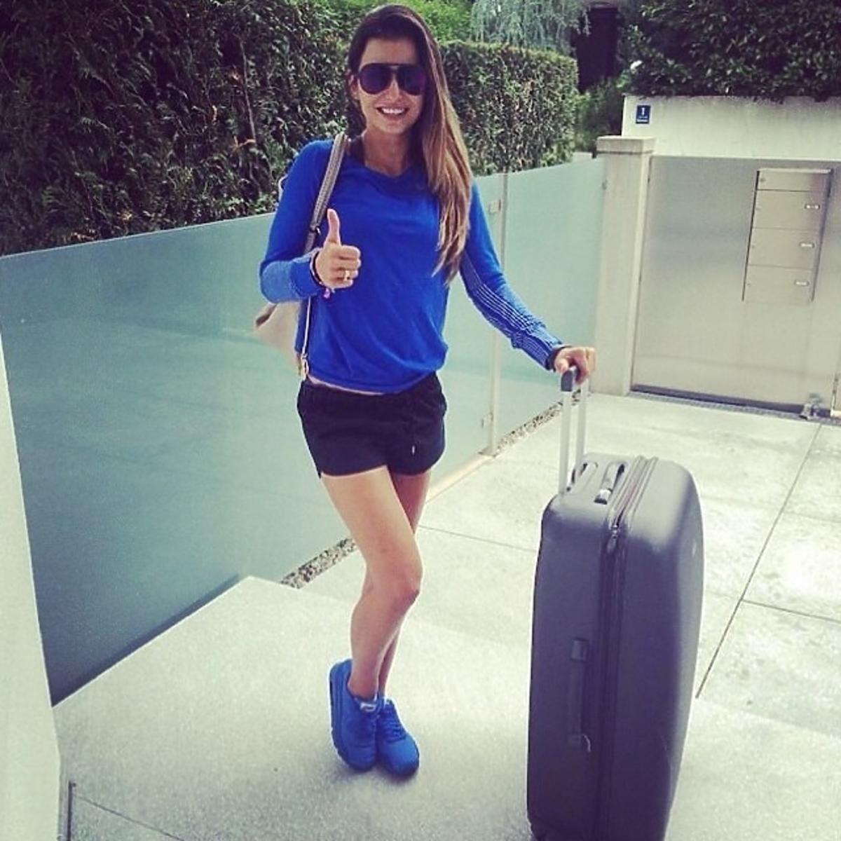 Anna Lewandowska trenuje na lotnisku