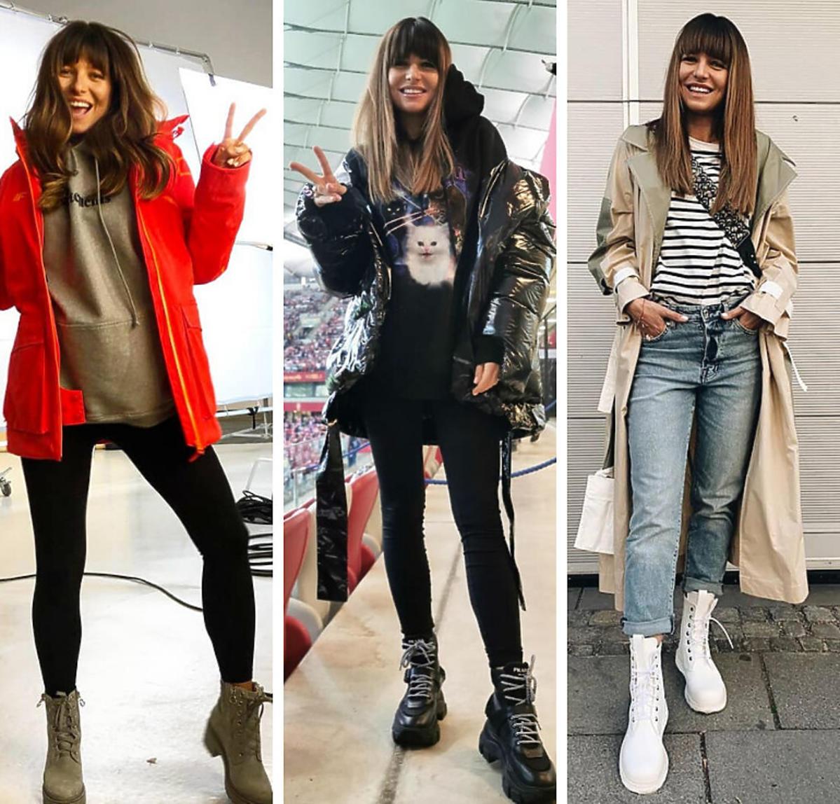 Anna Lewandowska uwielbia ciężkie buty