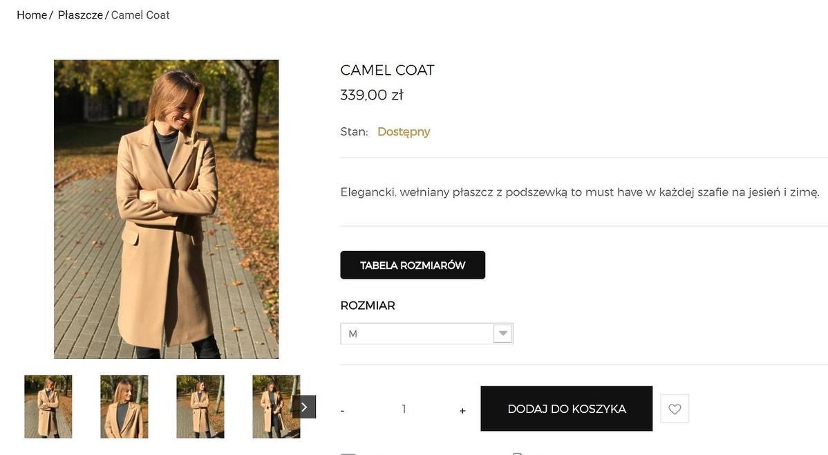 Anna Lewandowska w beżowym płaszczu