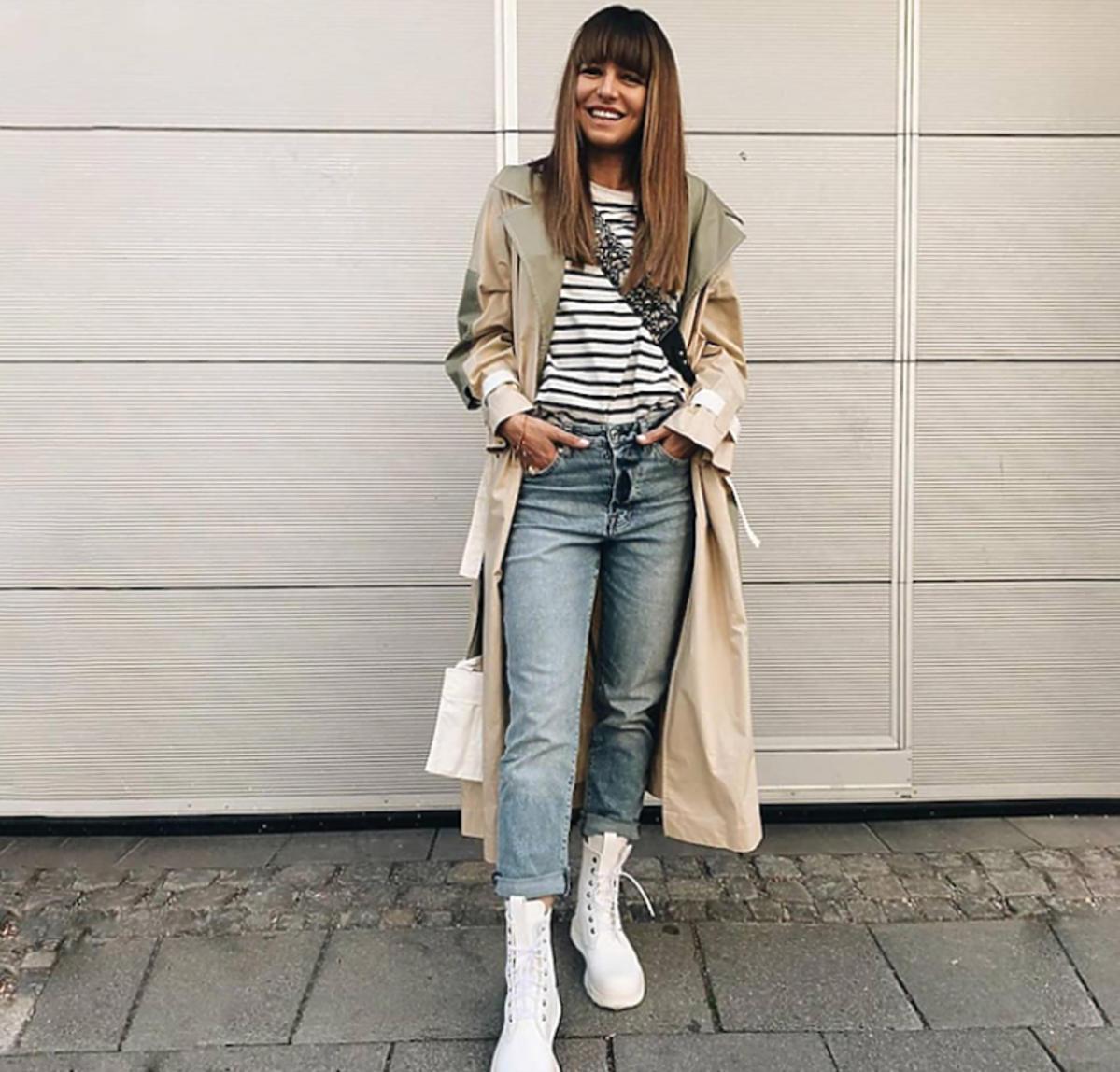 Anna Lewandowska w białych butach