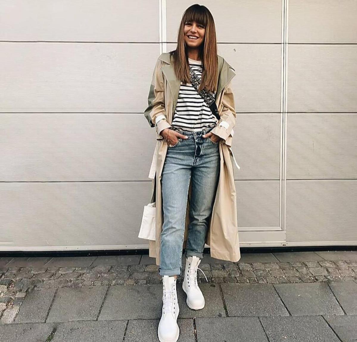 Anna Lewandowska w białych butach instagram