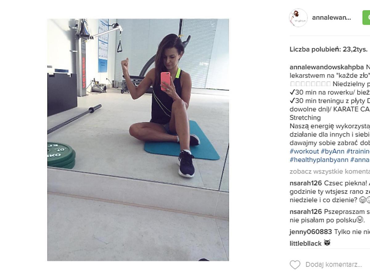 Anna Lewandowska w ciąży - zdjęcia z Instagramu