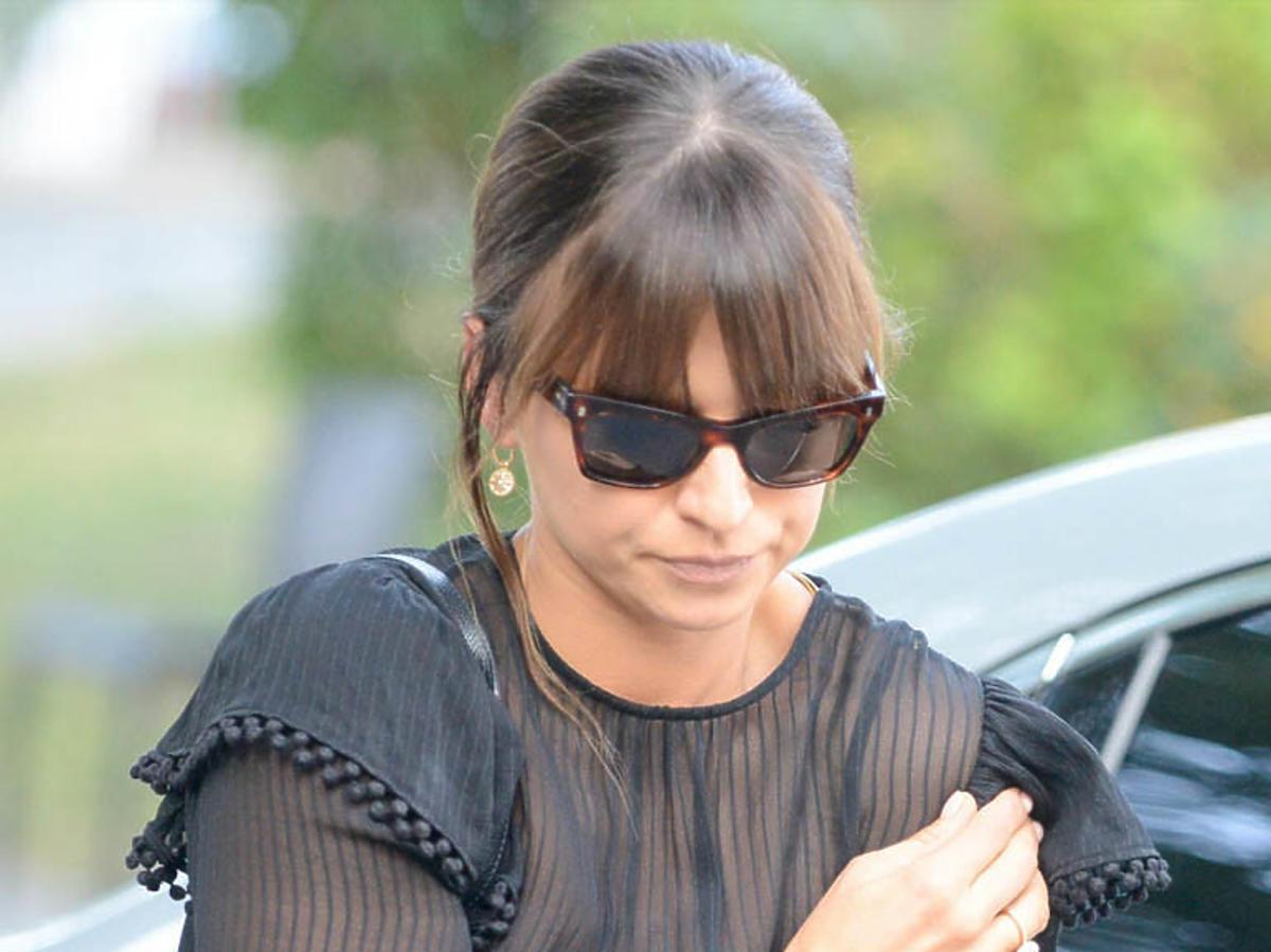 Anna Lewandowska w czarnej sukience