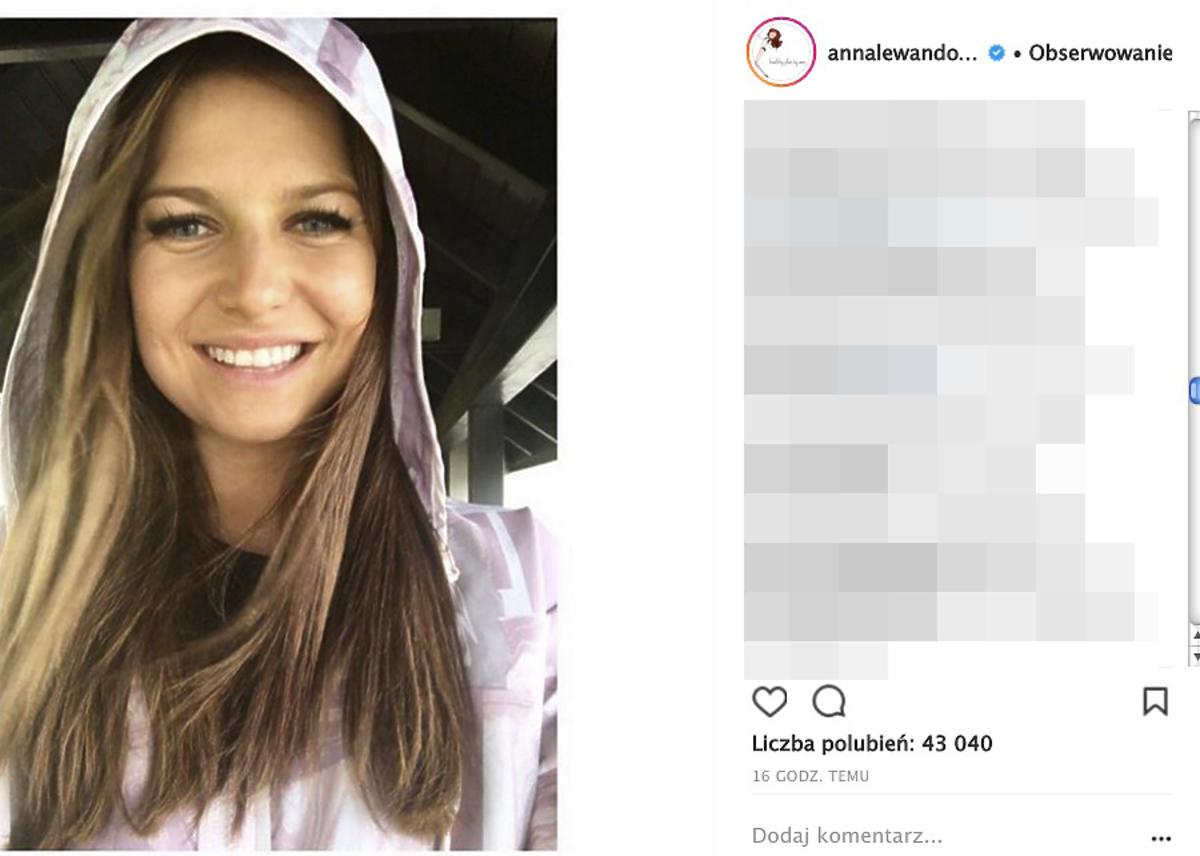 Anna Lewandowska w kapturze